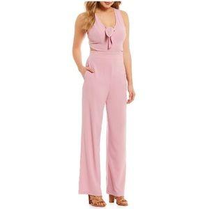e1716a220674 Gianni Bini Pants - NEW GB Gianni Bini S Pink Fav Tie Front Jumpsuit 2